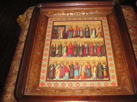 Икона всек святых храма города Слюдянки Иркутской области