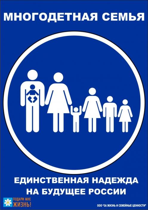 многодетная семья - единственная надежда на будущее России