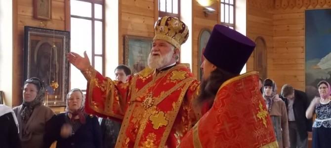 Архиерейское служение в Свято-Никольском храме города Слюдянки.