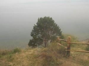 34 вид из окна, Байкал в тумане