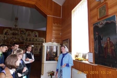 В рамках проекта «Свет православия» к столетию Свято-Никольского храма 20 сентября 2016 года была проведена экскурсия для учащихся 9 класса школы № 50.
