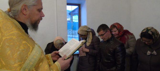Первый молебен после ремонта