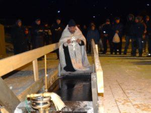 праздник Крещения Господня, освящение воды, молебен