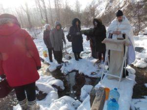 праздник Крещения Господня, освящение воды, молебен, источник в Рудо