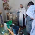 праздник Крещения Господня, освящение воды, молебен, часовня в Сухом ручье