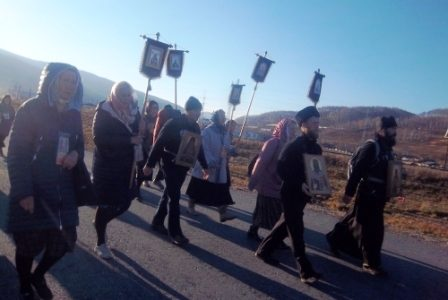 Крестный ход «Байкал- дар Божий» 10 октября 2018 года прошел через Слюдянку до Култука